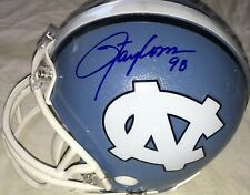 Lawrence Taylor & Hakeem Nicks autographed signed UNC North Carolina mini helmet