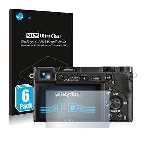 6x Displayschutzfolie für Sony Alpha 5000 / 6000 Klar Schutzfolie Displayfolie