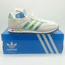 NEW Adidas LA Trainer UK 6.5 White, Limited Edition Parrot Print, Rare