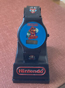 Vtg RARE 1989 Promo SUPER MARIO BROS. 2 Nintendo Wristwatch Watch & Display HTF!