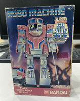VINTAGE RARE 1985 BANDAI SUPER GOBOTS ROBO MACHINE STAKS FRIENDLY ROBOT BOXED