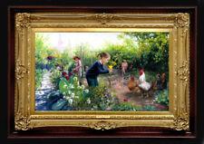 Oil Painting PRINTED on Canvas Arseni ~ FAVORITE FLOWER 30 X 18 cm Impressionism
