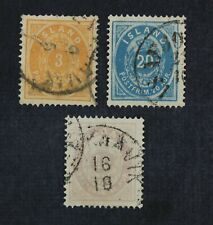 CKStamps: Iceland Stamps Collection Scott#15 17 18 Used
