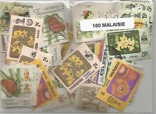 Lot de 100 timbres de Malaisie