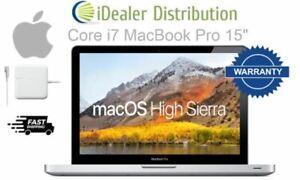 "Apple MacBook Pro 15"" Quad Core i7 256GB SSD 8GB RAM - Grade A LOW BATTERY COUNT"