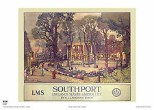 SOUTHPORT LANCASHIRE POSTER RAILWAY RETRO VINTAGE ADVERTISING TRAVEL ART