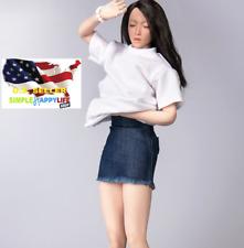 """1/6 Mini skirt short denim dress  for Phicen Hot Toys 12"""" female figure ❶USA❶"""