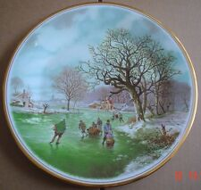 English Fine China Large Collectors Plate LANDSCAPE IN WINTER #1