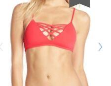 "NWT L Space 'Jaime' Crisscross Bikini Top only Large  Geranium"""