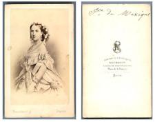 Impératrice du Mexique d'après dessin CDV vintage albumen carte de visite,