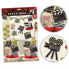 At The Movies Room Decoration Kit Pack Hollywood Theme Premiere Popcorn Party BN