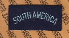 """UK GB Royal Air Force RAF WWII SOUTH AMERICA 3.5"""" Country title sleeve patch"""