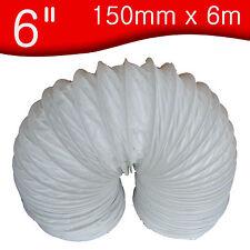 "150mm x 6 m metre       6"" PVC Flexible Ducting / Flexi hose duct, extractor fan"