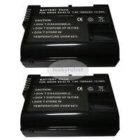 2X EN-EL15 Battery For Nikon D600 D810 D800 D750 D7000 D7100 D7200 V1 MB-D12 D11