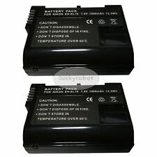 2X EN-EL15 ENEL15 Battery for Nikon D7000 D800 D600 MB-D11 MB-D12 Fully Decoded