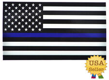 US Police Flag Thin Blue Red Vinyl Vehicle Sticker Decal