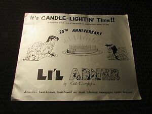1960 LI'L ABNER by Al Capp 25th ANNIVERSARY ALBUM 12 pgs VG/FN 14x11