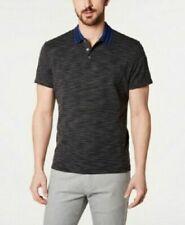Alfani Men's Pop Collar Polo Deep Black Sz Small $55