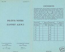 FAIREY GANNET  AEW.3 MANUAL 1960 FLEET AIR ARM ROYAL NAVY historic archive rare