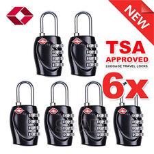 6x TSA Security 4 Combination Travel Suitcase Luggage Bag Code Lock Padlock