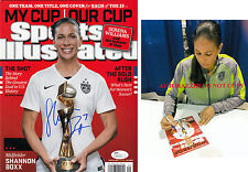 Shannon Boxx Jsa Coa Signed Sports Illustrated World Cup 2015 Si Autograph Proof
