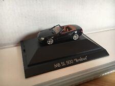 "Herpa Mercedes-Benz SL 500 convertible ""Brabus"" v8 negro MB PC h0 1:87 OVP"
