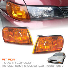Front Corner Light Orange Amber Len For Toyota Corolla AE100 AE101 E100 93-1997