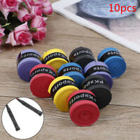 10pcs Tennis Squash Racquet Band Grip Tape Fishing rod Sweatband Grip Sweat`band