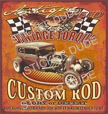 CUSTOM HOT ROD RAT ROD STICKER DECAL FOR MAN CAVE CAR TOOLBOX FRIDGE ESKY ETC