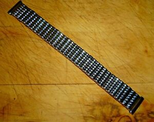 Vintage Men's Watch Strap Expandable Stainless Steel Easy Fit Clip On18mm Ends