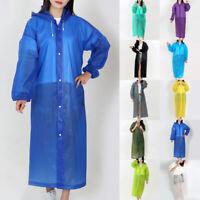 Men Women Raincoat Rain Coat Hooded Waterproof Jacket Poncho Rainwear Lot