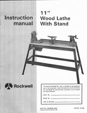 "Delta Rockwell No. 46-140 11"" Wood Lathe Manual Instructions"