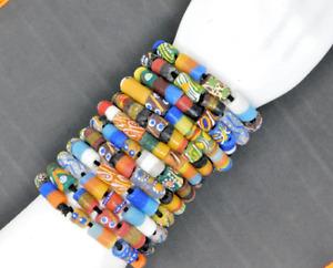 African Fair Trade Glass Trade Bead Single Bracelet Each Item Unique