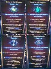 DIABLO 3 MODDED legendary GEMS x  38 easy rifts and super high damage XBOX ONE