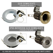 ALL GU10 DOWNLIGHTS CHOOSE FROM FIRE RATED DOWNLIGHTS, BATHROOM DOWNLIGHTS 240V
