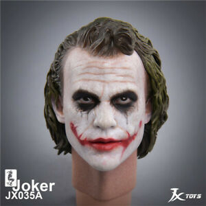 JXTOYS-035A 1/4 Clown Head Carving Batman Dark Knight The Joker Head Sculpt