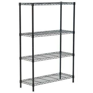 4/5 Tier Storage Rack Organizer Kitchen Shelving Steel Wire Shelves Black/Chrome