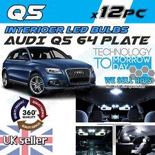 X12pc AUDI Q5 Bombillas LED SMD Super Interiores Xenon Blanco Interior Luces Kit