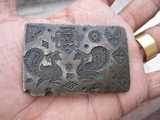 An antique old bell metal jewellery stamp die seal multiple pattern