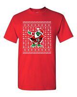 Dabbing Santa Dab Ugly Christmas Football Ball Sports Funny DT Adult T-Shirt Tee
