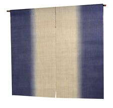 NOREN Japanese goodwill curtain hand dyed hemp beautiful gradation Light purple