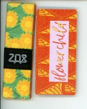Medium ZOX Silver Strap FLOWER CHILD Wristband with Card Reversible