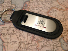 GENUINE ORIGINAL CITROEN LEATHER KEYRING KEYFOB