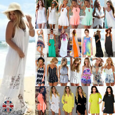 Round Neck Summer/Beach Petite Dresses for Women