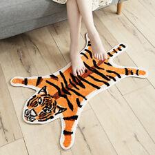 Cartoon Animal Tiger Shape Home Entrance Mat Absorbent Non-slip Bedroom Carpet