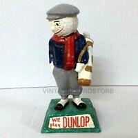 Dunlop Golf Ball Figure Cast Iron Repro Of 20s Original Advertising Golfer