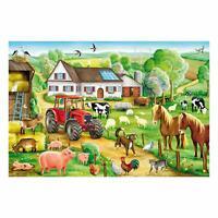 Schmidt Spiele Fröhlicher Bauernhof, Kinderpuzzle, Standard 100 Teile, Puzzle