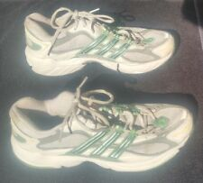 ADIDAS Women's White Lime Green Athletic Running Shoes Torsion Adiprene Size 8.5