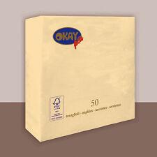 TOVAGLIOLI DOPPIO VELO PURA CELLULOSA CHAMPAGNE CM. 33X33 CF. 50 PZ. FESTE E PAR