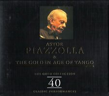 ASTOR PIAZZOLLA & THE GOLDEN AGE OF TANGO (40 Classic)  Gold Collection BOX 2 CD
